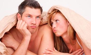 pareja en problemas por la eyaculación precoz